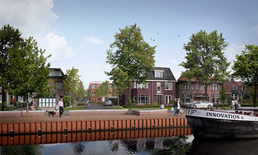 Hofje bij de kade te Nieuwegein